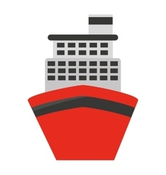 Cruise ship isolated icon design vector
