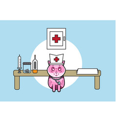 cute medical cat vector image