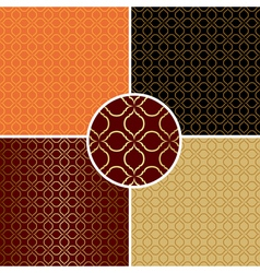 Dark and light seamless patterns - set vector