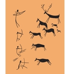 depicting hunting vector image