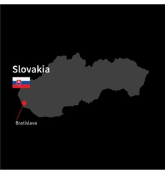 detailed map slovakia and capital city vector image