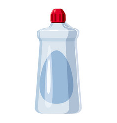 Detergent white bottle icon cartoon style vector
