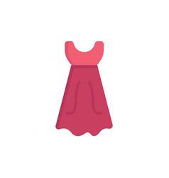 dress girl wedding flat color icon icon banner vector image