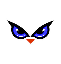 eye owl bird logo icon vector image
