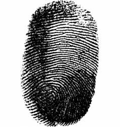 fingerprint on white background vector image