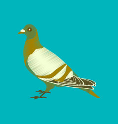 Flat shading style icon dove vector