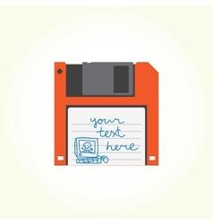 Floppy disk vector image