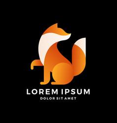 fox logo modern gradation on white background vector image