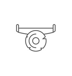 hand saw icon in linear style vector image