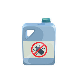 insecticide bottle icon vector image
