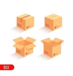 isometric carton packaging box vector image