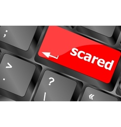 Keyboard with hot key - scared word vector