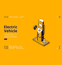 Landing page electric vehicle concept vector