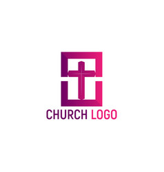 Logo of the church christian symbols vector