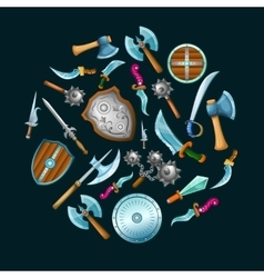 Medieval weapon set vector