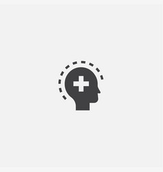 Mental health base icon simple sign vector