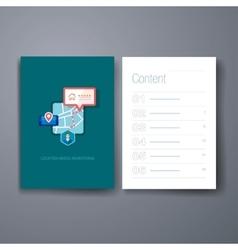 Modern map navigation flat icons cards design vector image
