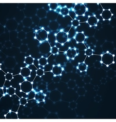 Molecule DNA glowing Abstract background vector image