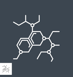Molecule related thin line icon vector