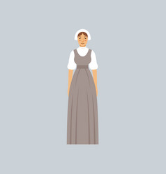 Mormon woman in traditional dress vector