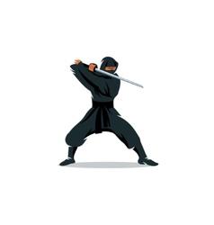 Ninja sign vector image vector image