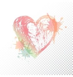 Ombre print Watercolor heart vector
