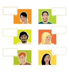 People with dialogue baloons vector image