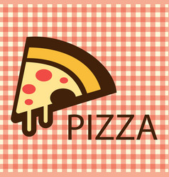 Pizza piece brown logo vector
