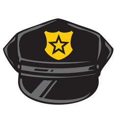 police hat design vector image