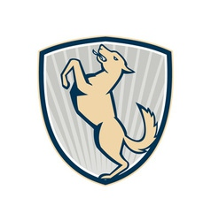 Prancing Dog Side Shield vector image