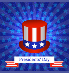 presidents day the concept of a national holiday vector image