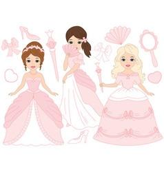 Princesses Set vector image