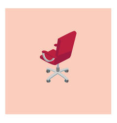 red chair on white background vector image