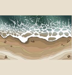 sea wave splashed on beach background vector image