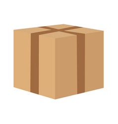 seal the cardboard box to move vector image