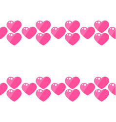 seamless pattern stripe hearts on a white vector image