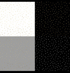 seamless pattern with gold painted dots on the vector image