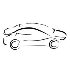 simple sketch car vector image