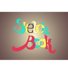 Sketch Book - letters vector