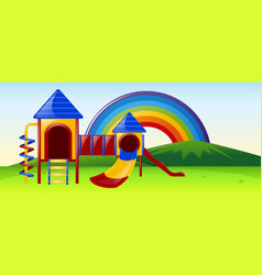 slide station in the park vector image vector image