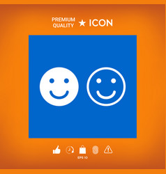Smile icon happy face symbol for your web site vector