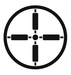 sniper target icon simple style vector image