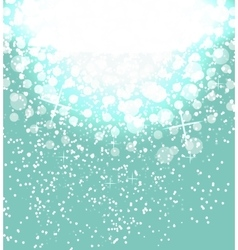 Snow on sky background Abstract Christmas and New vector image