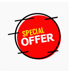 special offer template design vector image