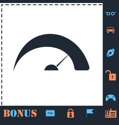 Speed icon flat vector