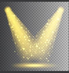spotlight bright christmas glowing light vector image