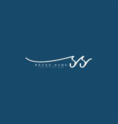 Ss initial signature logo handwritten logo vector