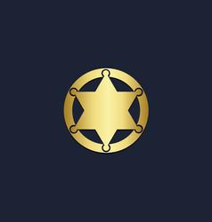 star emblem gold logo vector image
