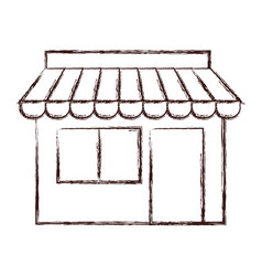 Store building icon vector
