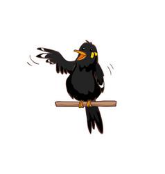 Talkative hill myna bird vector